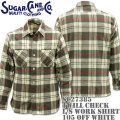 Sugar Cane(シュガーケーン)TWILL CHECK L/S WORK SHIRT SC27385-105 Off White