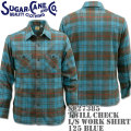 Sugar Cane(シュガーケーン)TWILL CHECK L/S WORK SHIRT SC27385-125 Blue