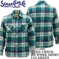 Sugar Cane(シュガーケーン)TWILL CHECK L/S WORK SHIRT SC27386-145 Green
