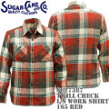 Sugar Cane(シュガーケーン)TWILL CHECK L/S WORK SHIRT SC27387-165 Red
