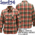 Sugar Cane(シュガーケーン)TWILL CHECK L/S WORK SHIRT SC27388-115 Gray