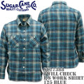 Sugar Cane(シュガーケーン)TWILL CHECK L/S WORK SHIRT SC27388-125 Blue