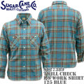 Sugar Cane(シュガーケーン)TWILL CHECK L/S WORK SHIRT SC27389-125 Blue