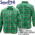 Sugar Cane(シュガーケーン)TWILL CHECK L/S WORK SHIRT SC27390-145 Green