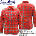 Sugar Cane(シュガーケーン)TWILL CHECK L/S WORK SHIRT SC27390-165 Red