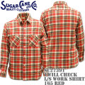 Sugar Cane(シュガーケーン)TWILL CHECK L/S WORK SHIRT SC27391-165 Red