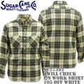Sugar Cane(シュガーケーン)TWILL CHECK L/S WORK SHIRT SC27392-105 Off White