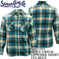 Sugar Cane(シュガーケーン)TWILL CHECK L/S WORK SHIRT SC27393-125 Blue