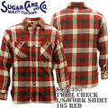 Sugar Cane(シュガーケーン)TWILL CHECK L/S WORK SHIRT SC27393-165 Red