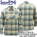 Sugar Cane(シュガーケーン)TWILL CHECK L/S WORK SHIRT SC27394-105 Off White