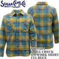Sugar Cane ( シュガーケーン ) TWILL CHECK L/S WORK SHIRT SC27394-125 Blue