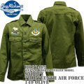 BUZZ RICKSON'S(バズリクソンズ)スヌーピーコラボ BR×PEANUTS VIET-NAM SHIRTS CIVILIAN MODEL『SNOOPY THIRTEENTH AIR FORCE』BR27482-149 Olive