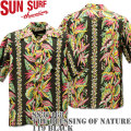 SUN SURF(サンサーフ)アロハシャツ HAWAIIAN SHIRT『THE BLESSING OF NATURE』SS37468-119 Black