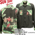 SUN SURF(サンサーフ)アロハシャツ HAWAIIAN SHIRT『SPECIAL EDITION / BANANA BOY 』L/SLEEVE SS27559-119 Black