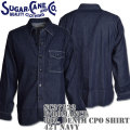 Sugar Cane(シュガーケーン)F/ROMANCE 8oz. DENIM CPO SHIRT L/Sleeve SC27222-421 Navy