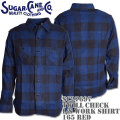 Sugar Cane(シュガーケーン)TWILL CHECK L/S WORK SHIRT SC27697-128 Navy