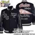 WHITES VILLE(ホワイツビル)AWARD JACKET FULL DECORATION(スタジアムジャンパー)『INDIAN MOTORCYCLE』WV13984-119 Black