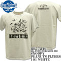 BUZZ RICKSON'S(バズリクソンズ)スヌーピーコラボTシャツ BR×PEANUTS RINGER TEE『SNOOPY PEANUTS FLYERS』BR77846-101 White