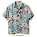 SUN SURF(サンサーフ)アロハシャツ HAWAIIAN SHIRT『OLIENTAL GARDEN IN HAWAII』SS37779-123 Turquoise