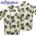Duke Kahanamoku(デューク カハナモク)COTTON OPEN SHIRT『DUKE'S PINEAPPLE S/Sleeve』DK37811-101 White