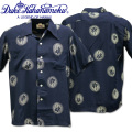 Duke Kahanamoku ( デューク カハナモク ) アロハシャツ HAWAIIAN SHIRT 『 SPECIAL EDITION / WONDROUS PALM TREE 』 DK37856-128 Navy