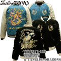【港商商会】TAILOR TOYO(テーラー東洋)SPECIAL EDITION SOUVENIR JACKET『Phoenix × Tangled Dragons』TT14271-119 Black/Blue