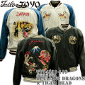 TAILOR TOYO(テーラー東洋)SOUVENIR JACKET(スカジャン)『DUELLING DRAGONS × TIGER HEAD』TT14331-119 Black/Silver