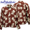 Duke Kahanamoku ( デューク カハナモク ) アロハシャツ 『 SPECIAL EDITION DUKE'S PINEAPPLE L/Sleeve 』 DK26793-138 Brown