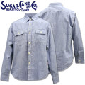 Sugar Cane ( シュガーケーン ) PIN CHECK L/S WORK SHIRT SC28094-125 Blue