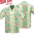 SUN SURF ( サンサーフ ) アロハシャツ HAWAIIAN SHIRT 『 PINEAPPLE CHAIN BORDER 』 SS38108-105 Off White