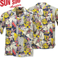 SUN SURF ( サンサーフ ) アロハシャツ HAWAIIAN SHIRT 『 HAWAIIAN PICTGRAPH 』 SS38034-128 Navy