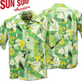 SUN SURF ( サンサーフ ) アロハシャツ HAWAIIAN SHIRT 『 HAWAIIAN PICTGRAPH 』 SS38034-145 Green