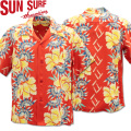 SUN SURF ( サンサーフ ) アロハシャツ HAWAIIAN SHIRT 『 ISLAND FLOWER SHOWER 』 SS38038-165 Red