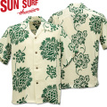 SUN SURF ( サンサーフ ) アロハシャツ HAWAIIAN SHIRT 『 HAWAIIAN PAREU 』 SS38041-105 Off White