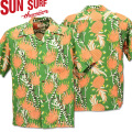 SUN SURF ( サンサーフ ) アロハシャツ HAWAIIAN SHIRT 『 SCREW PINE BORDER 』 SS38042-145 Green