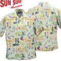SUN SURF ( サンサーフ ) OPEN SHIRT 『 HULA FESTA by SHAG 』 SS38189-105 Off White