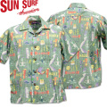 SUN SURF ( サンサーフ ) OPEN SHIRT 『 HULA FESTA by SHAG 』 SS38189-119 Black