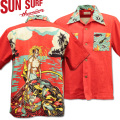 SUN SURF ( サンサーフ ) アロハシャツ HAWAIIAN SHIRT 『 SPECIAL EDITION / HUKILAU 』 SS38103-165 Red