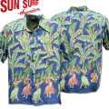 SUN SURF ( サンサーフ ) アロハシャツ HAWAIIAN SHIRT 『 SPECIAL EDITION / BANANA TREES 』  SS38202-125 Blue
