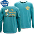 BUZZ RICKSON'S ( バズリクソンズ ) スヌーピーコラボTシャツ BR x PEANUTS L/S TEE 『 I'm Ready To Go Home 』 BR68359-123 Turquoise
