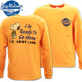 BUZZ RICKSON'S(バズリクソンズ)スヌーピーコラボTシャツ BR×PEANUTS L/S TEE『I'm Ready To Go Home』BR68359-159 Orange