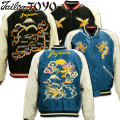 TAILOR TOYO(テーラー東洋)SOUVENIR JACKET(スカジャン)『DUELLING DRAGONS × JAPAN MAP』TT14465-125 Blue/Black