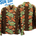 SUN SURF(サンサーフ)アロハシャツ HAWAIIAN SHIRT『HAWAIIAN IVE』L/SLEEVE SS28301-119 Black
