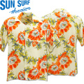 SUN SURF(サンサーフ)アロハシャツ HAWAIIAN SHIRT『NIGHT BLOOMING CEREUS』SS38315-105 Off White