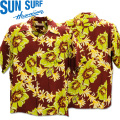 SUN SURF(サンサーフ)アロハシャツ HAWAIIAN SHIRT『NIGHT BLOOMING CEREUS』SS38315-170 Wine