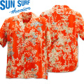 SUN SURF(サンサーフ)アロハシャツ HAWAIIAN SHIRT『CHERRY BLOSSOMS』SS38319-165 Red
