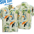 SUN SURF(サンサーフ)アロハシャツ HAWAIIAN SHIRT『CARP』SS38321-125 Blue