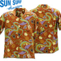 SUN SURF(サンサーフ)アロハシャツ HAWAIIAN SHIRT『MING PRINT』SS38331-138 Brown