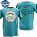 BUZZ RICKSON'S(バズリクソンズ)スヌーピーコラボTシャツ BR×PEANUTS RINGER TEE『I'm on the Moon』BR78423-123 Turquoise