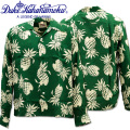 Duke Kahanamoku(デューク カハナモク)アロハシャツ『SPECIAL EDITION DUKE'S PINEAPPLE L/Sleeve』DK26793-146 D.Green